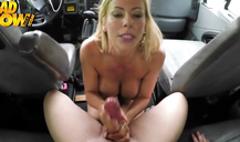 Hot as fuck blonde is being drilled in her small mouth