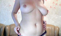 Horny as fuck French milf shows her massive natural tits