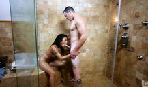 Slutty Wicked Kaylani Lei fucked right in the shower