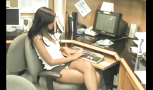 Gorgeous office girl Karla Spice is posing sexy on the cam