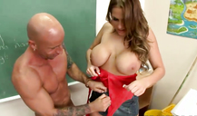 Busty bitch Alanah Rae is having crazy fun in the classroom