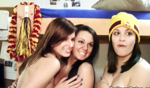 Wild sex party with kinky lesbian students in college rules porn