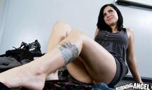 Black-haired white milf seducing horny as fuck black teacher